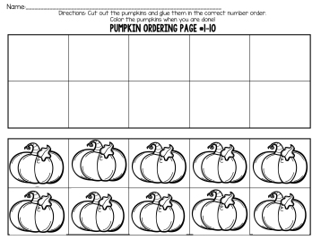 Pumpkin Patch Numbers